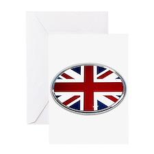 Union Jack Oval Greeting Card