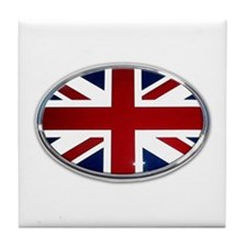 Union Jack Oval Tile Coaster