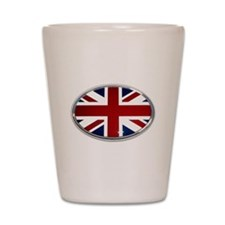 Union Jack Oval Shot Glass