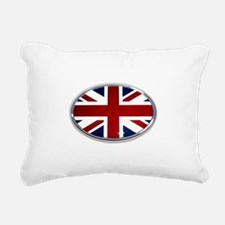 Union Jack Oval Rectangular Canvas Pillow