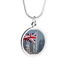 Union Jack over London. Necklaces