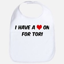 Heart on for Tori Bib