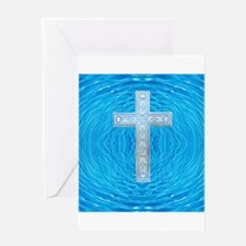 China Blue Cool Pool Cross Greeting Card