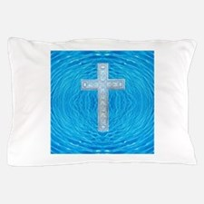 China Blue Cool Pool Cross Pillow Case
