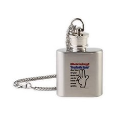 Prostrate Warning Flask Necklace