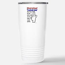 Prostrate Warning Travel Mug