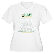 bbwstandsfor.jpg Plus Size T-Shirt