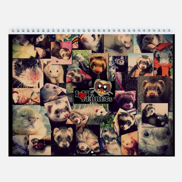 Love Ferrets First Edition - Wall Calendar