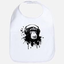 Headphone Monkey Bib