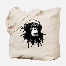 Headphone Monkey Tote Bag