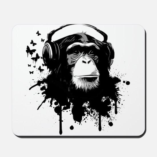 Headphone Monkey Mousepad