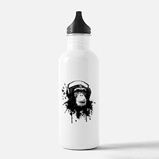 Headphone Monkey Water Bottle