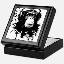 Headphone Monkey Keepsake Box
