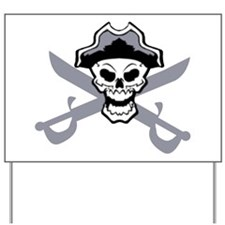 Pirate Skull and Swords 2 Yard Sign