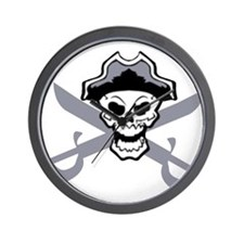 Pirate Skull and Swords 2 Wall Clock