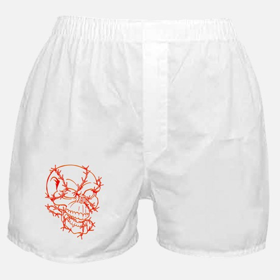 Skull and Barbed Wire Boxer Shorts