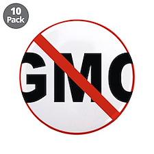 "No GMO! 3.5"" Button (10 pack)"