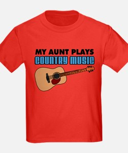My Aunt Plays Country Music T-Shirt