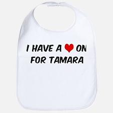 Heart on for Tamara Bib