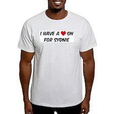 Heart on for Sydnie Ash Grey T-Shirt