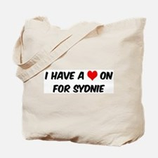 Heart on for Sydnie Tote Bag