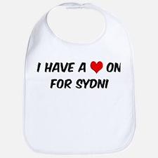 Heart on for Sydni Bib