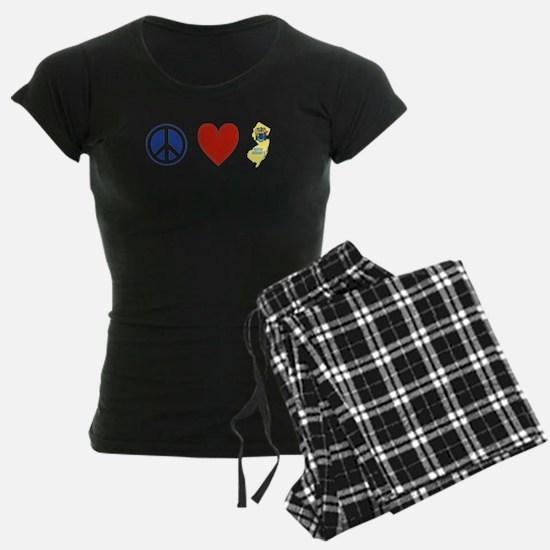 Peace Love New Jersey Pajamas