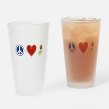 Peace Love New Jersey Drinking Glass