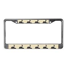 Jackal On Shrine License Plate Frame