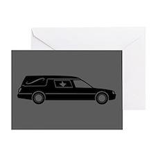 Hearse Greeting Card