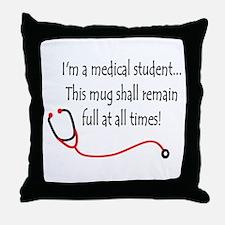 Medical Student Mug Throw Pillow
