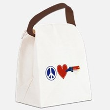 Peace Love North Carolina Canvas Lunch Bag