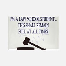 I'm a law school student. Rectangle Magnet