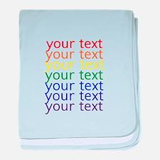 Cute Letters baby blanket