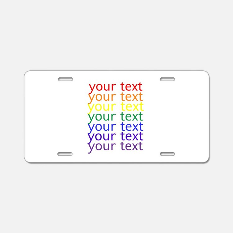 Cute Letters Aluminum License Plate