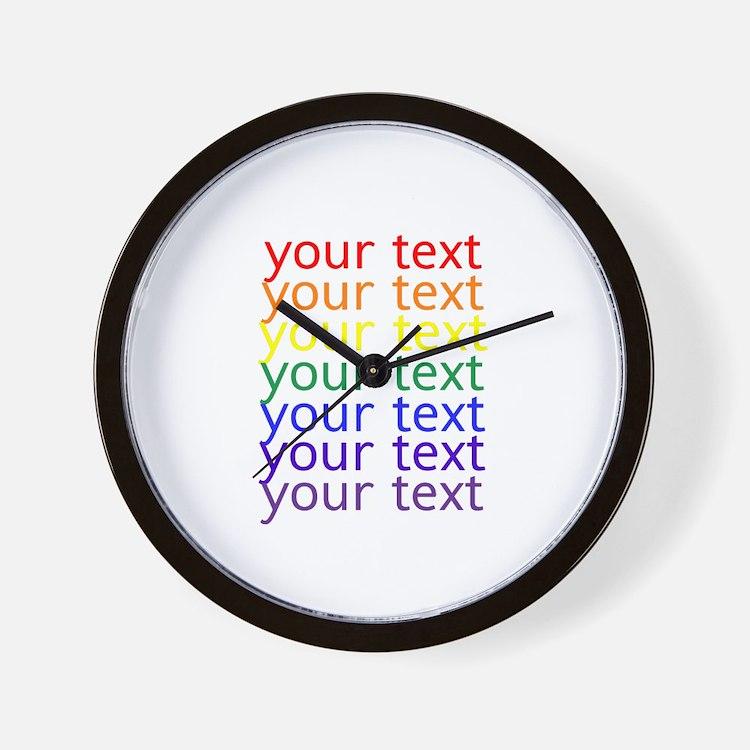 Cute Text Wall Clock