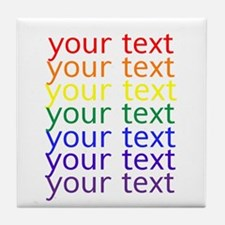 Cute Text Tile Coaster