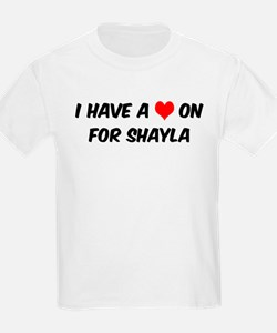 Heart on for Shayla Kids T-Shirt