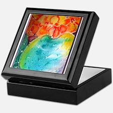 Cactus! Colorful southwest art! Keepsake Box