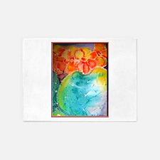 Cactus! Colorful southwest art! 5'x7'Area Rug