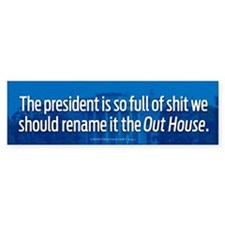 Rename It The Out House Bumper Car Sticker