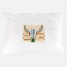ceremonial skull tee.png Pillow Case