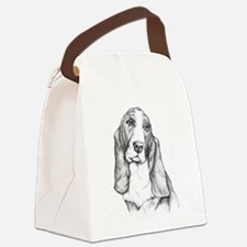 Basset Hound drawing Canvas Lunch Bag