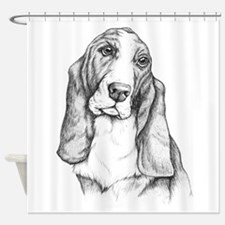 Basset Hound drawing Shower Curtain
