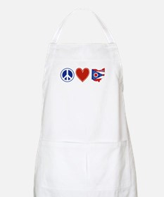 Peace Love Ohio Apron
