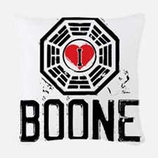 I Heart Boone - LOST Woven Throw Pillow