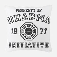 Property of Dharma Distresses Woven Throw Pillow