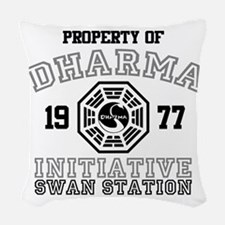 Property of Dharma - Swan Woven Throw Pillow