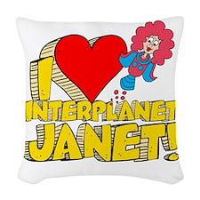 I Heart Interplanet Janet! Woven Throw Pillow