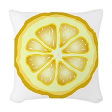 Lemon Slice Woven Throw Pillow
